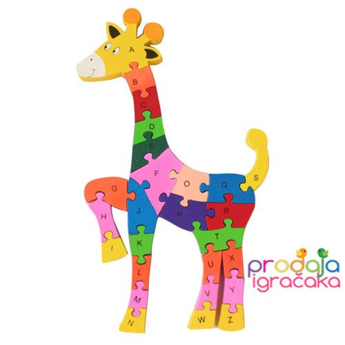 edukativna-drvena-žirafa-puzle-brojevi copy