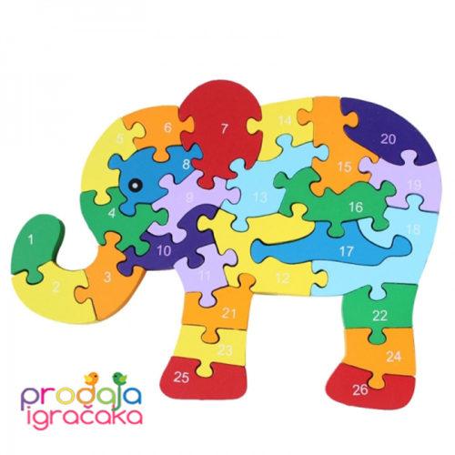 edukativna-drvena-SLON-puzle-BROJEVI-SLOVA-01 copy